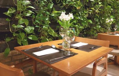 ogród wertykalny ze sztucznych roślin