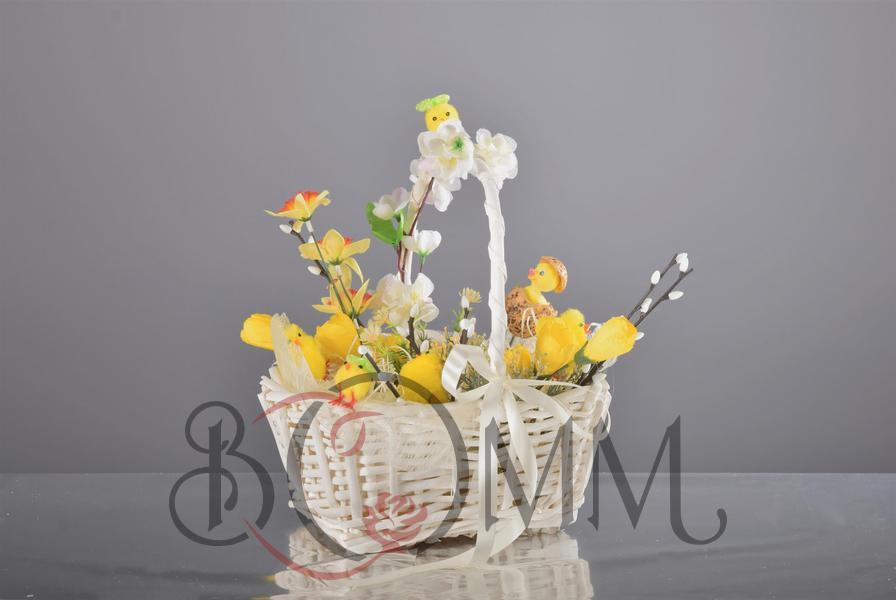 Kwiatowy koszyczek Wielkanocny