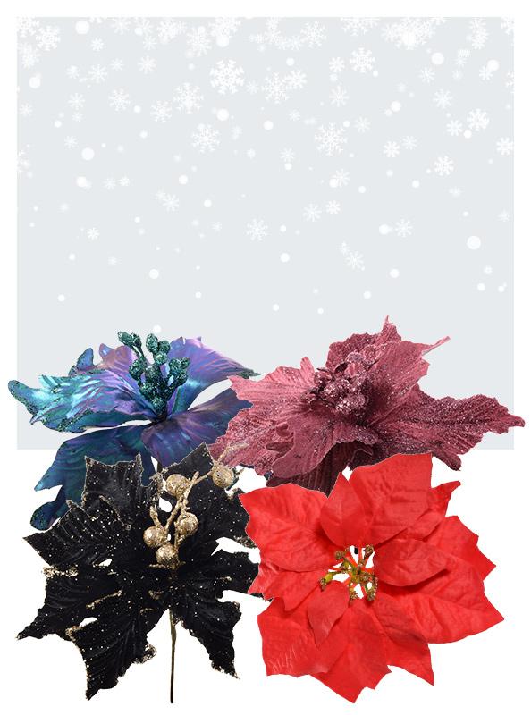 Świąteczne główki kwiatowe