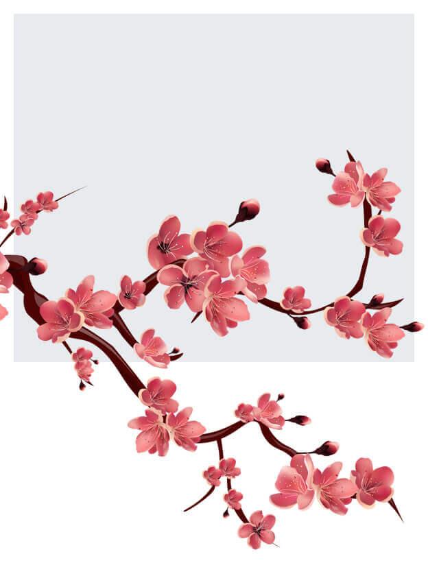 Sztuczne gałązki kwiatowe