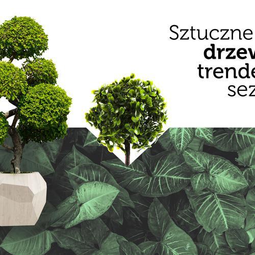 Sztuczne drzewka wkraczają na salony