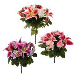 Róże i lilie - bukiet 45 cm (U513)