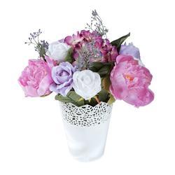 Kompozycja kwiatowa z peonią i różą (NN267)
