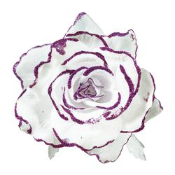 Róża z brokatem - główka (W309X)