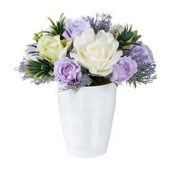 Różana wariacja w bieli i fiolecie (NN262)