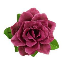 Róża rozwinięta z listkami - główka (W675)
