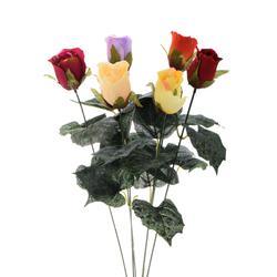Róża sztuczna w pąku - gałązka (K741)
