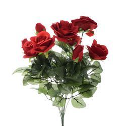 Róża - bukiet x 9 welwet (U221)
