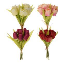 Tulipan - sztuczny bukiet x 7 (U265E)