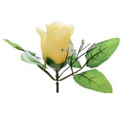 Róża w pąku z listkami - główka (W847)