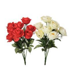 Róże-bukiet x 9 40 cm (U066)