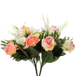 Róża/goździk/lilia tiger - bukiet x10 (U074)
