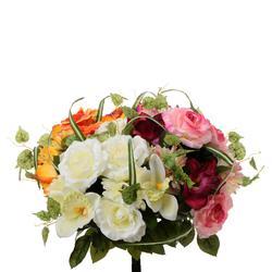 Róża, gerbera, storczyk - bukiet (U514)