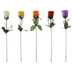 Róża w pąku z gipsówką - gałązka (K220)