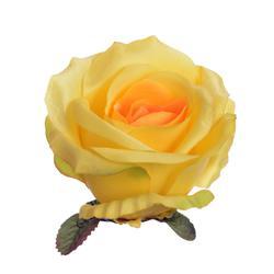 Sztuczna róża rozwinięta - główka (W080)