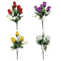 Róża w pąku - bukiecik x 5 28 cm (U164)
