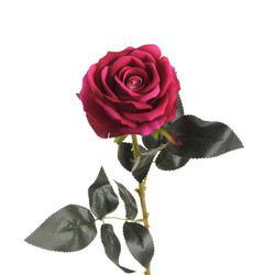 Sztuczna róża - gałązka welwet 76 cm (K712)