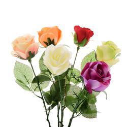Róża w pąku - gałązka sztuczna (K223)