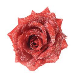 Róża z brokatem - główka (W308X)
