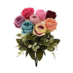 Sztuczna róża satynowa - gałązka (GK012)