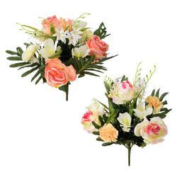 Róża/lilia/goździk - bukiet na cmentarz - pakiet 2 szt. (PSU074)