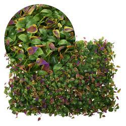 Mata z zielonych i kolorowych liści 60x40 cm (TR054)