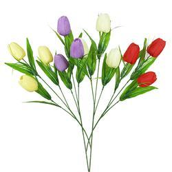 Sztuczny tulipan - gałązka x3 (K171E)