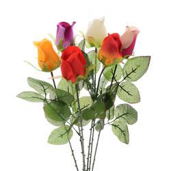 Róża w pąku - gałązka sztuczna (K271)