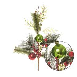 Gałązka świąteczna z dekoracją (XP133)